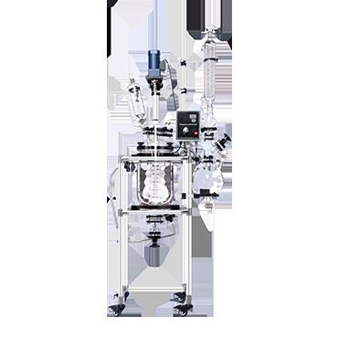 10L微型夹套发酵罐生物反应器 玻璃反应釜